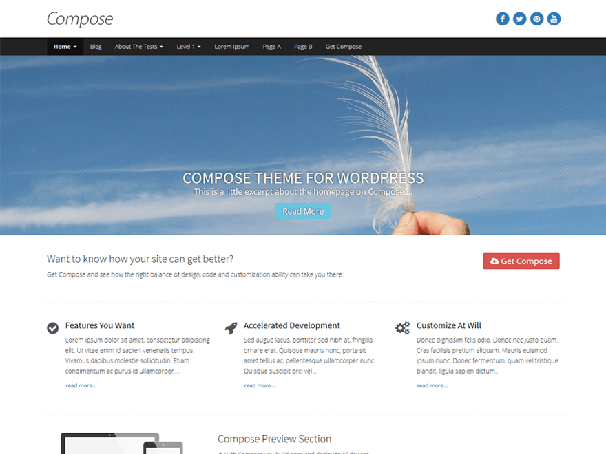 Compose WP theme wordpress gratuit