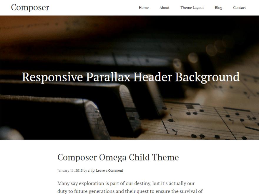 Compositeur theme wordpress gratuit