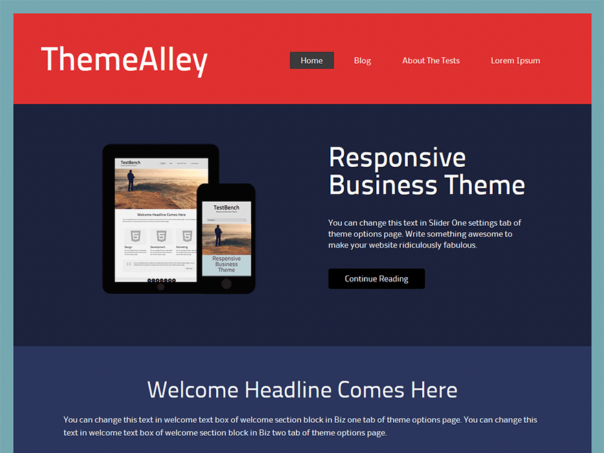 Connex free wordpress theme