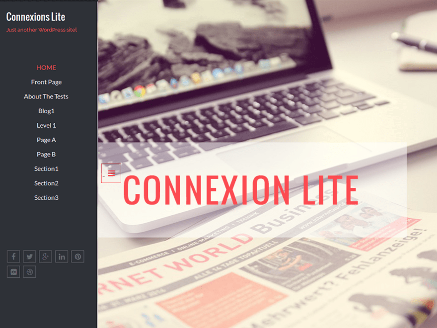 Connexions Lite free wordpress theme