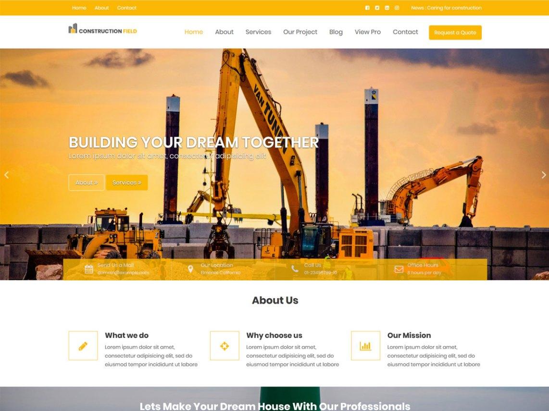 Construction Field Wordpress Org