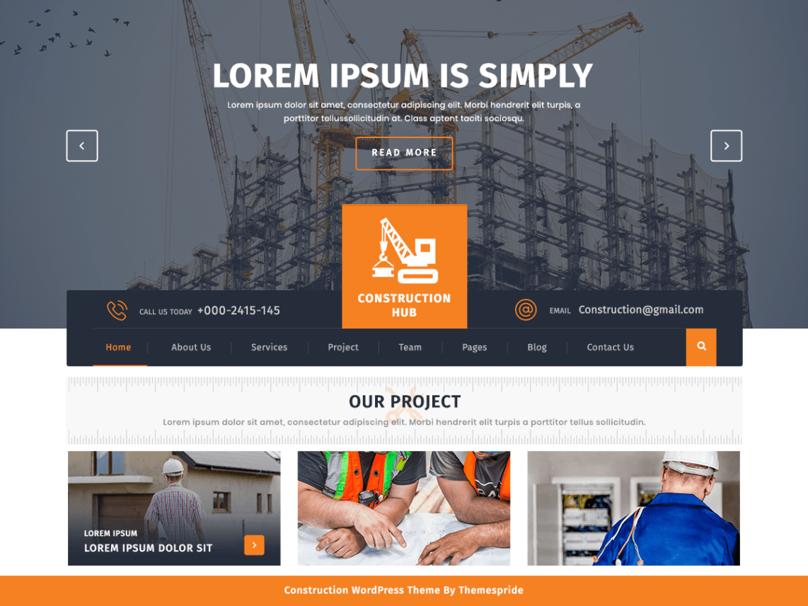 Construction Hub - WordPress theme | WordPress org