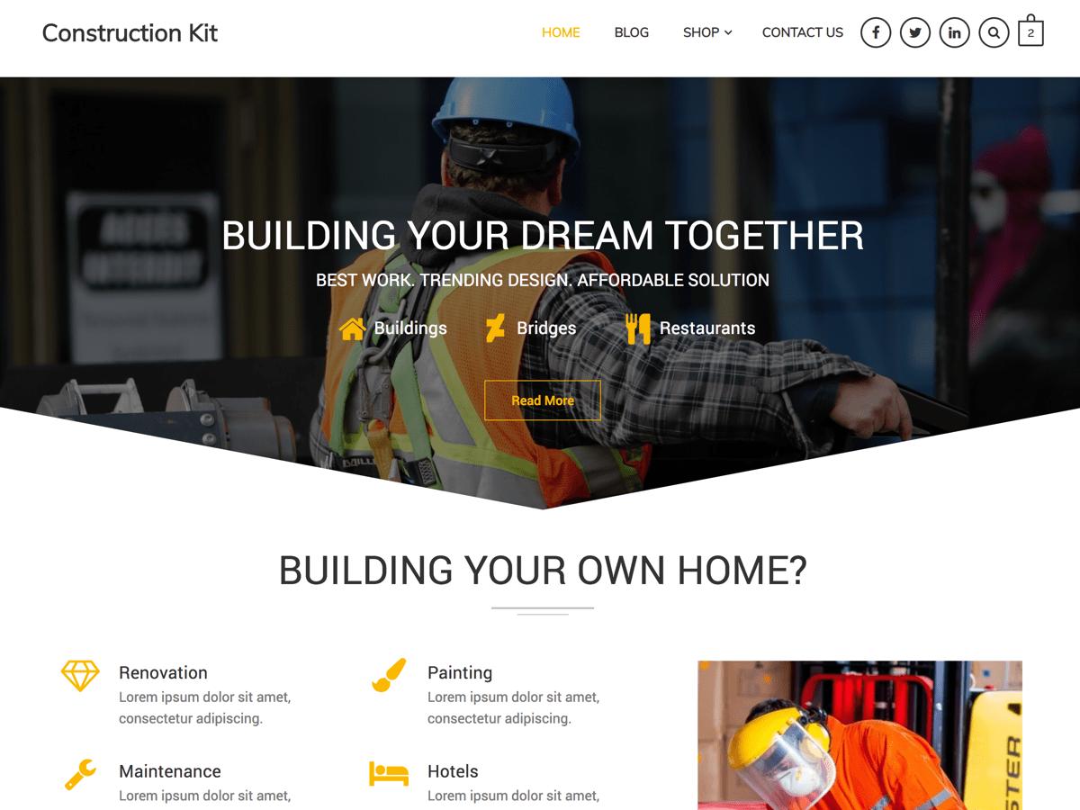 WordPress主题:Construction Kit