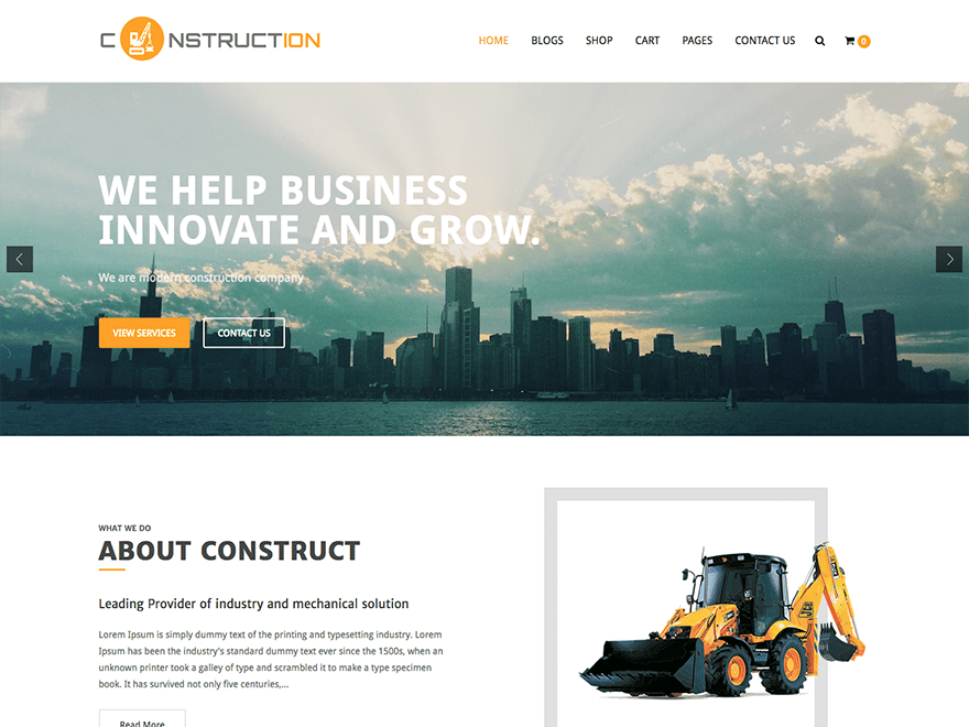 ConstructionLite-best-free-construction-WordPress-theme-CodePixelz