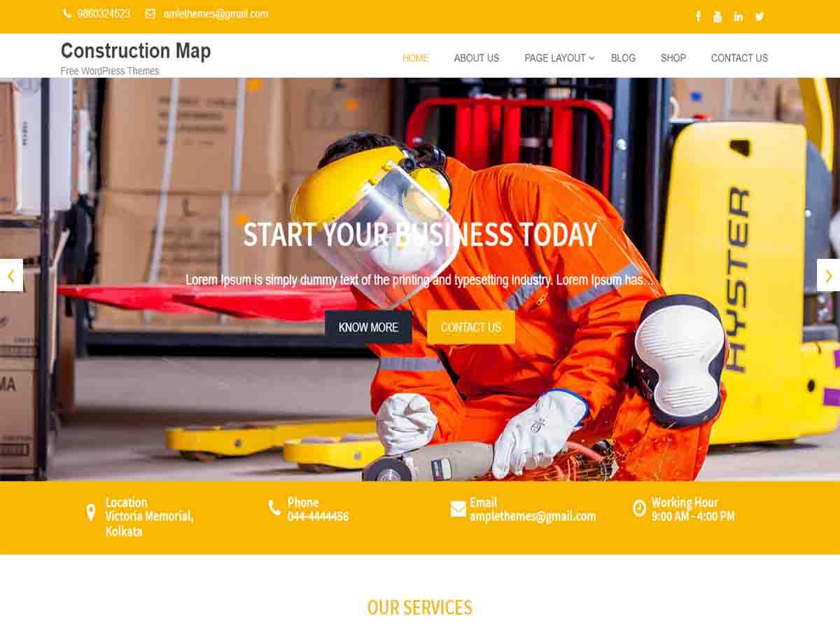 WordPress主题:Construction Map