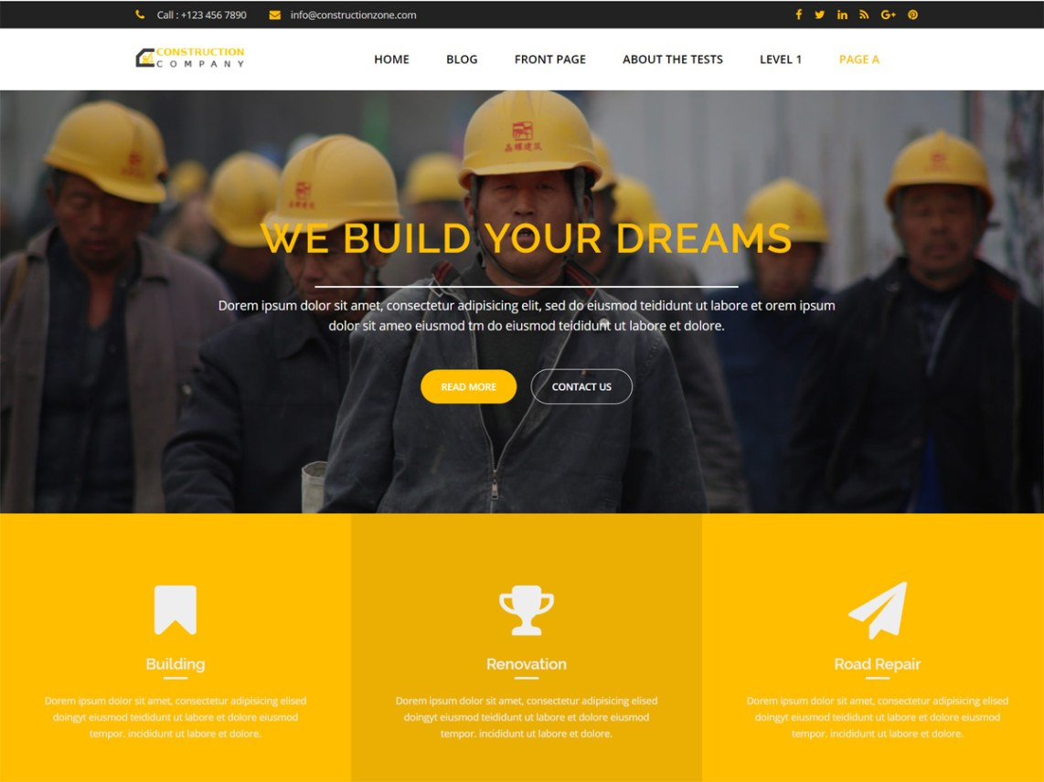 Construction Zone Theme Free Download