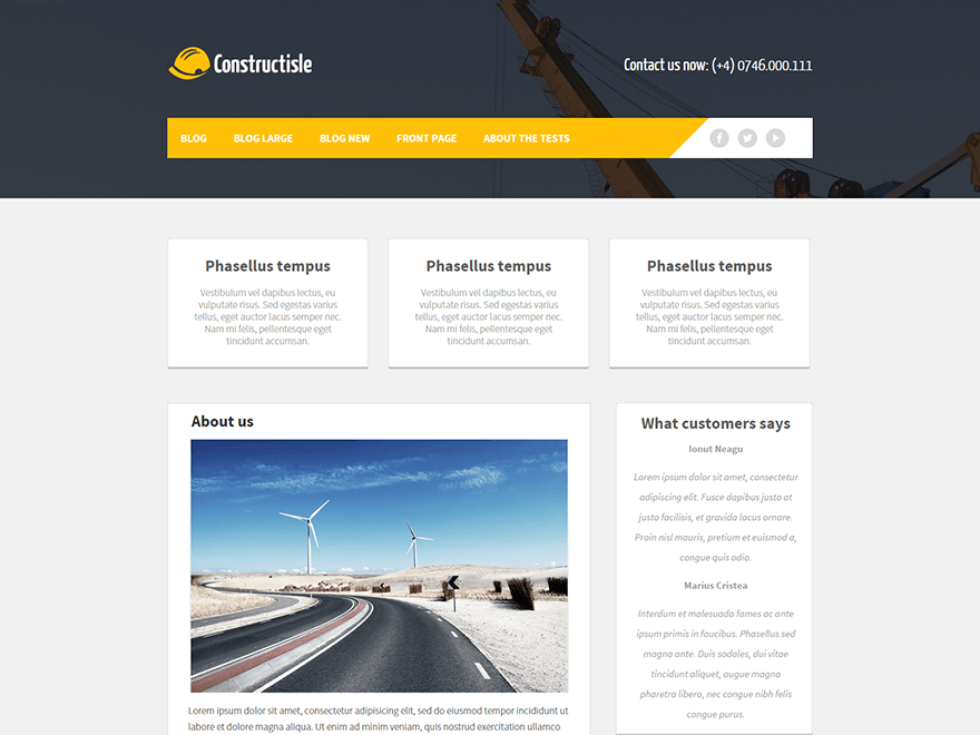 Constructisle wordpress theme