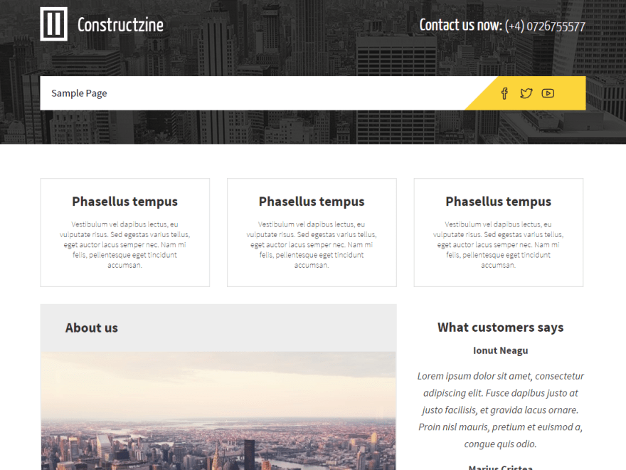 Constructzine Lite free wordpress theme