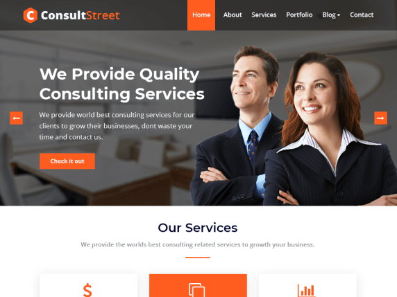 ConsultStreet consulting business WordPress theme