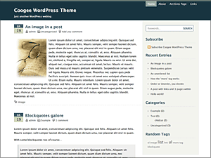 Coogee free wordpress theme