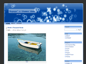 CoolBlue free wordpress theme