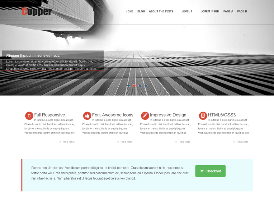 Copper free wordpress theme