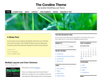 Coraline child theme