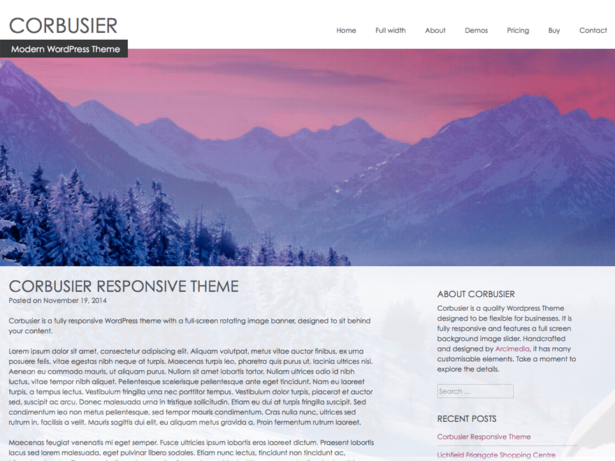 Corbusier free wordpress theme