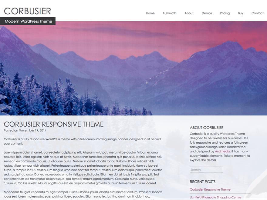 Corbusier free wordpress theme
