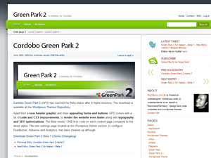 Cordobo Green Park 2 free wordpress theme