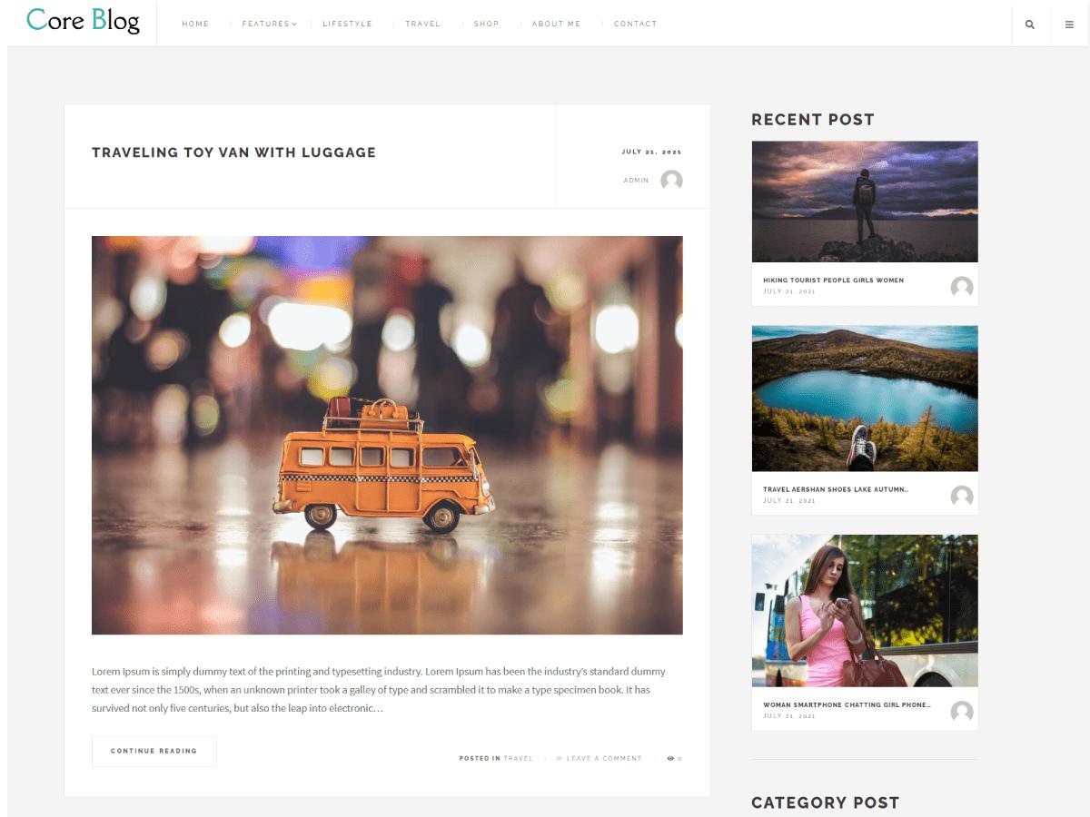WordPress主题:Core Blog
