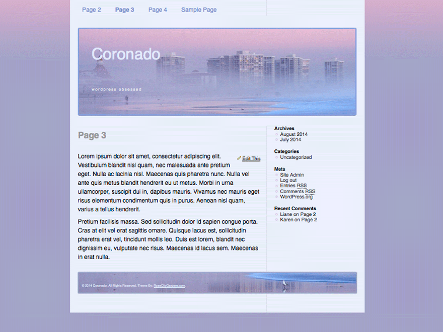 Coronado free wordpress theme
