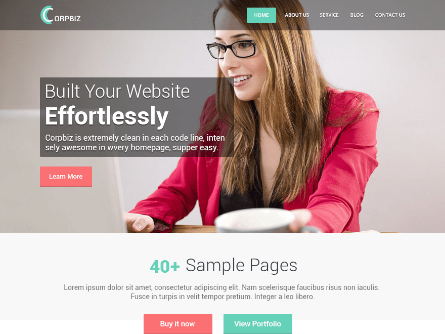 Corpbiz wordpress theme