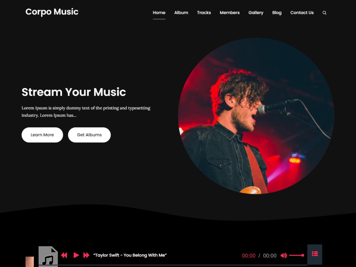 WordPress主题:Corpo Music