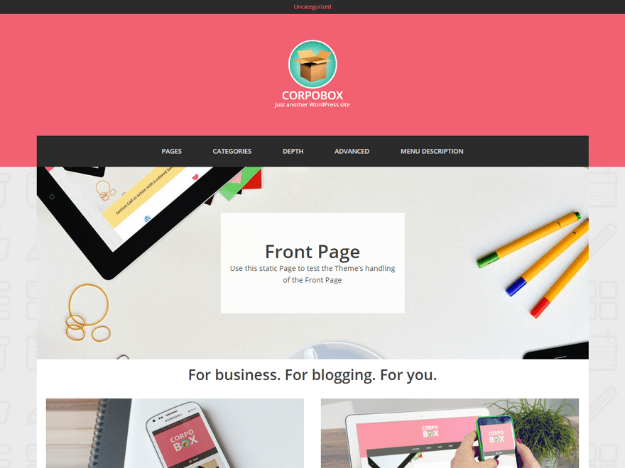 Corpobox Lite free wordpress theme