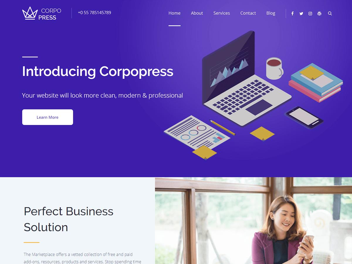 WordPress主题:Corpopress
