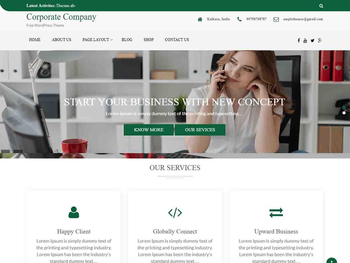 WordPress主题:Corporate Company