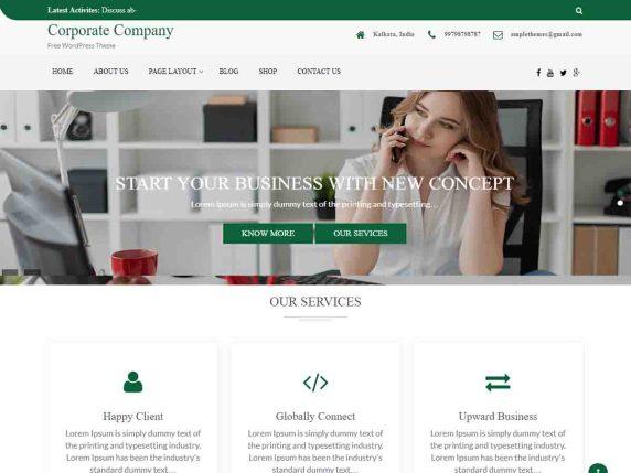 Corporate Company Wordpress Theme Wordpress Org