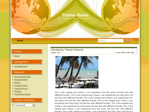 Corporate Globe wordpress theme