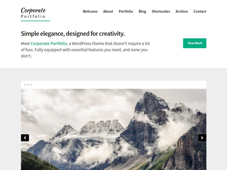 Corporate Portfolio Theme Free Download