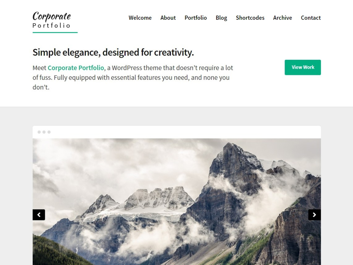 Corporate Portfolio Theme Free Download