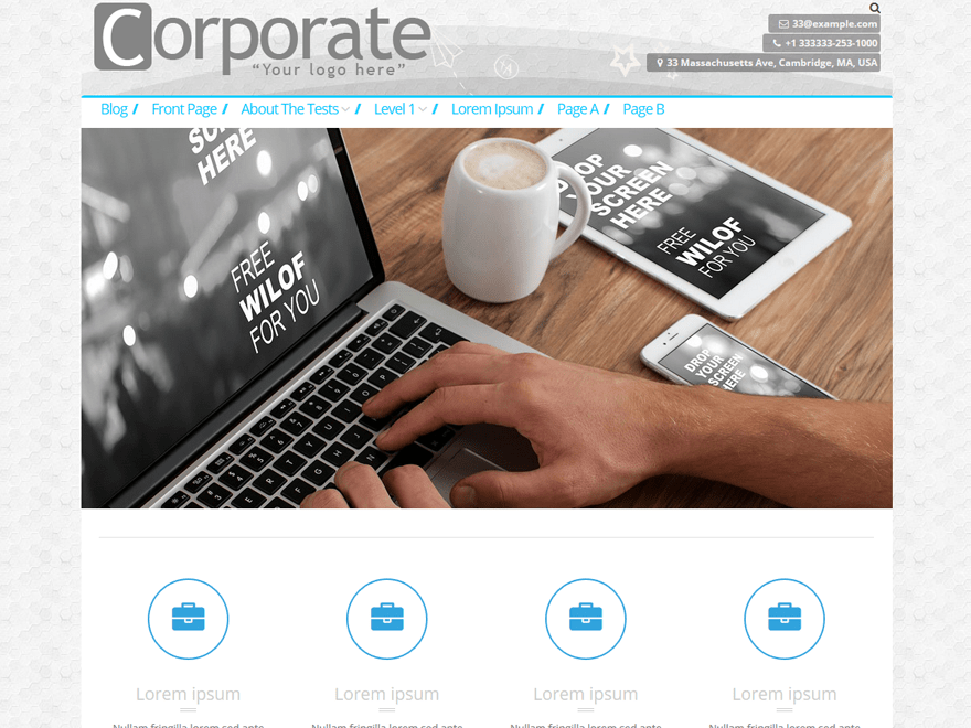 CorporateBusiness free wordpress theme