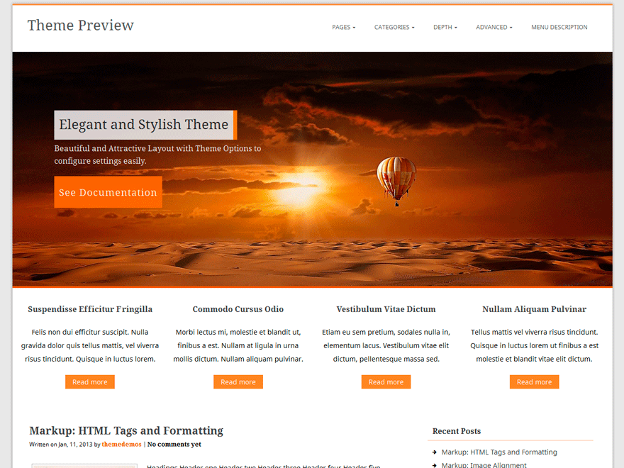 Corpus free wordpress theme