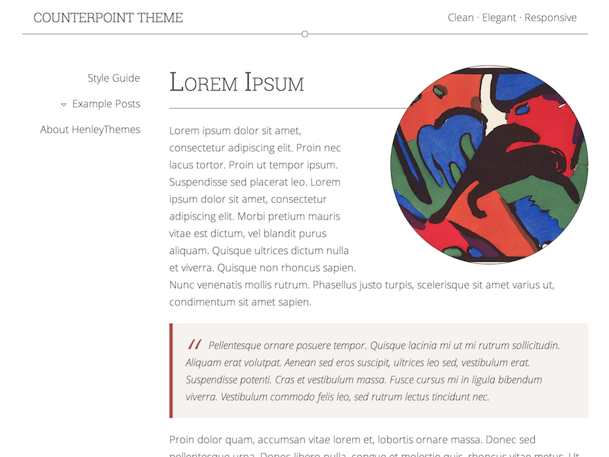 Counterpoint free wordpress theme