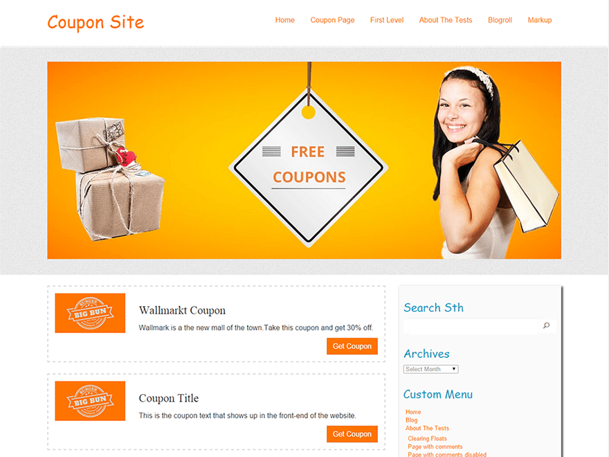 Coupon free wordpress theme