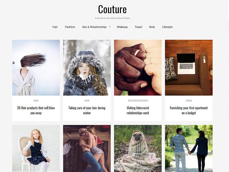 couture child theme