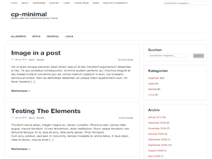 cp-minimal free wordpress theme