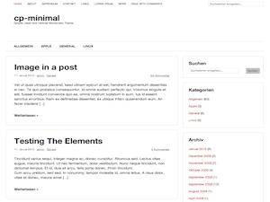cp-minimal wordpress theme