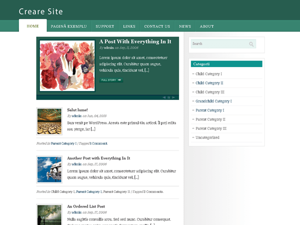 Creare Site free wordpress theme