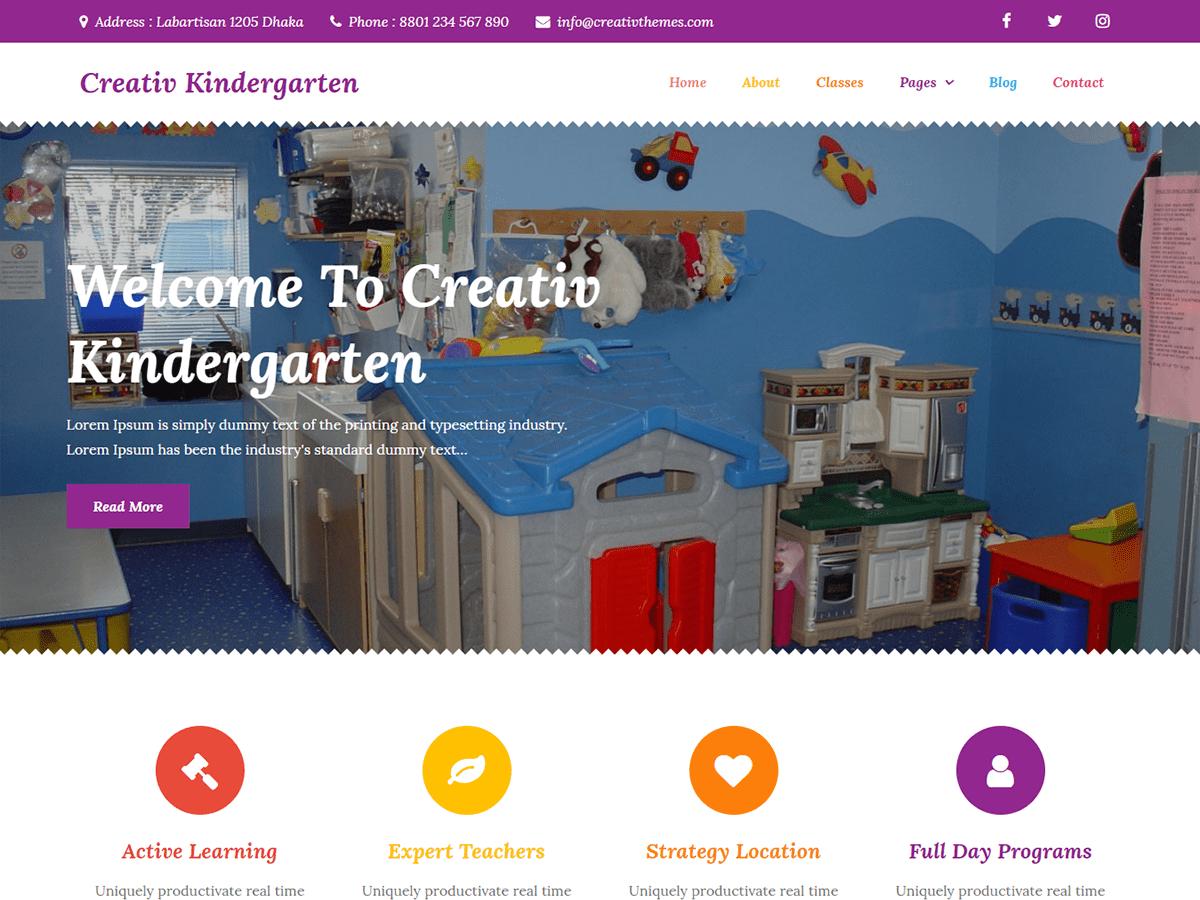 WordPress主题:Creativ Kindergarten