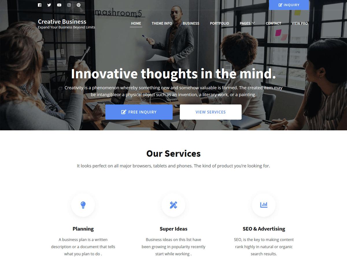 WordPress主题:Creative Business