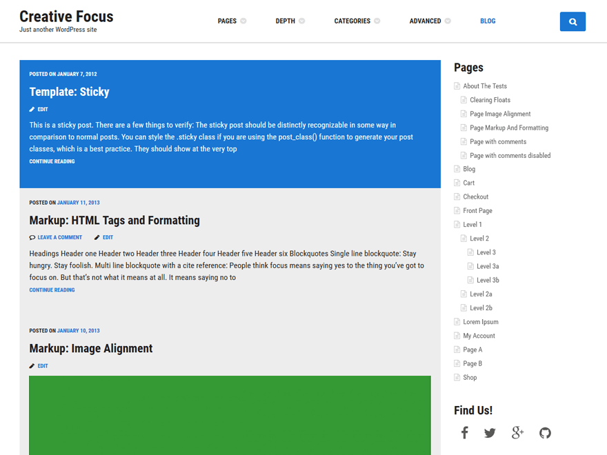 Creative Focus free wordpress theme