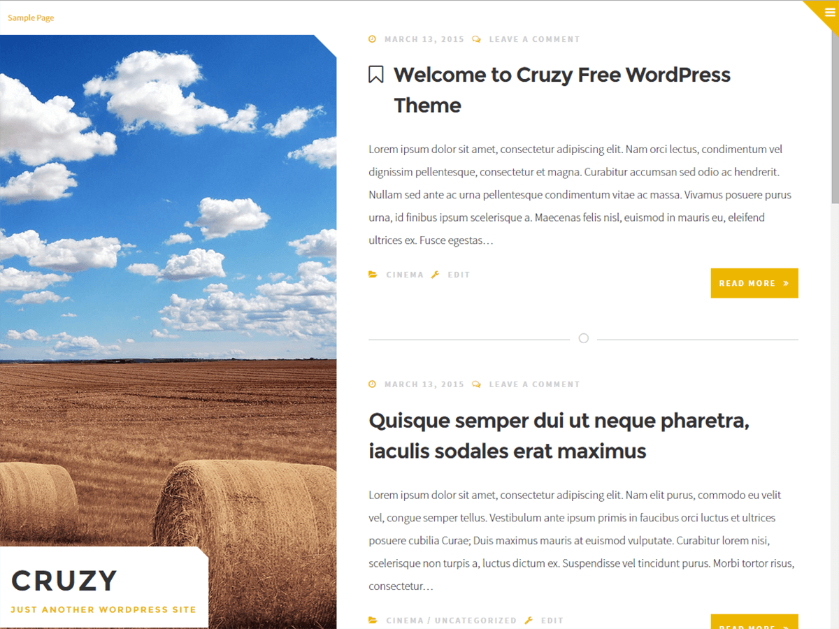 Cruzy wordpress theme