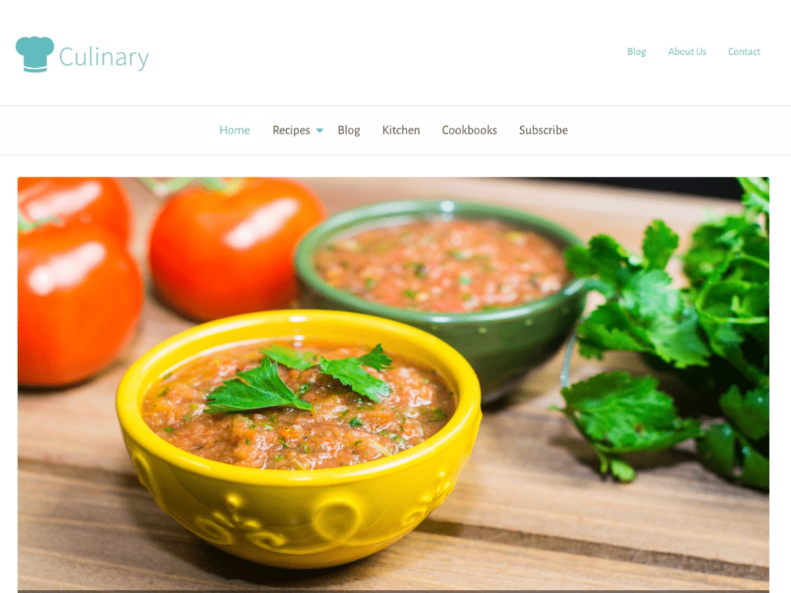 Culinary wordpress by rescue themes forumfinder Choice Image