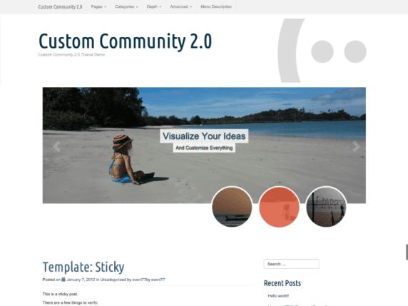 Custom Community wordpress theme