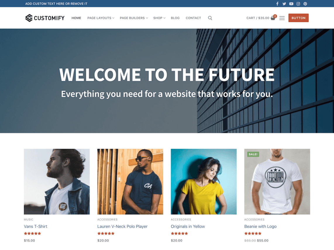 Customify WordPress theme