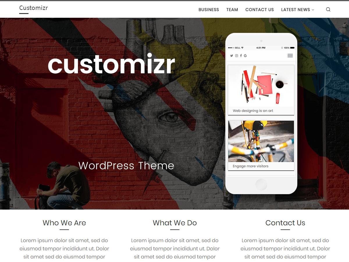 Customizr - WordPress thema | WordPress.org Nederlands