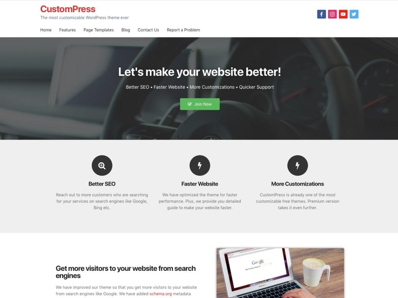CustomPress — Free WordPress Themes