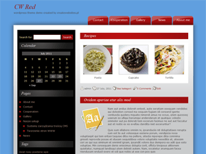 CW Red wordpress theme