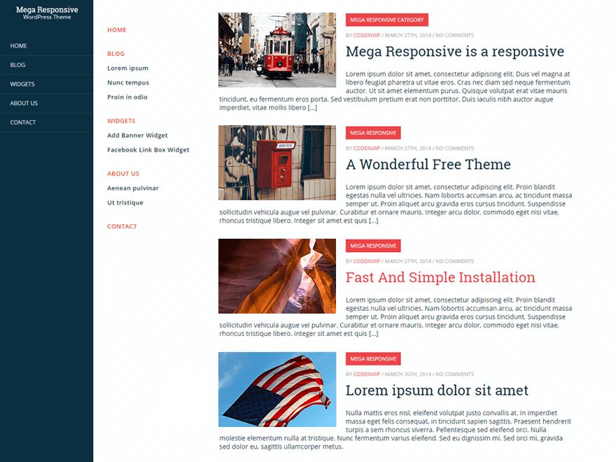 CWP MegaResponsive free wordpress theme